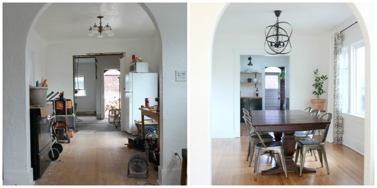 The Grit and Polish - Dining Room Progress and After