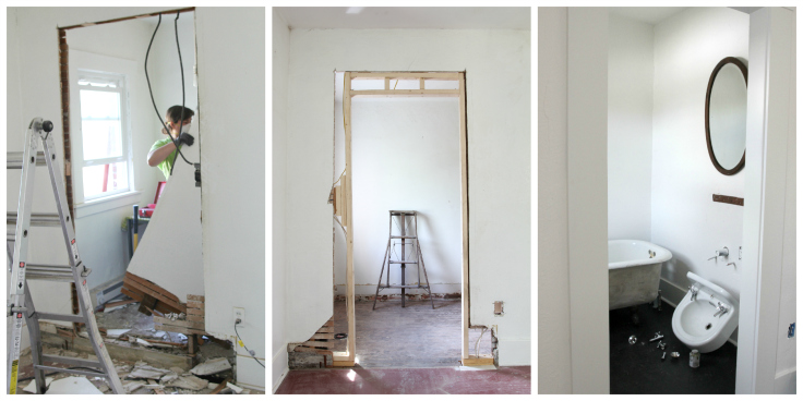 The Grit and Polish - Master Bathroom Renovation Progress Collage