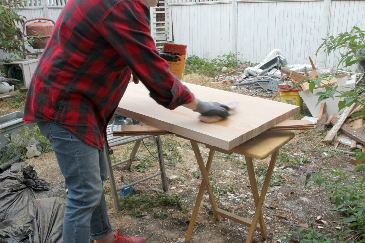 The Grit and Polish - Butcher Block Countertop sealing