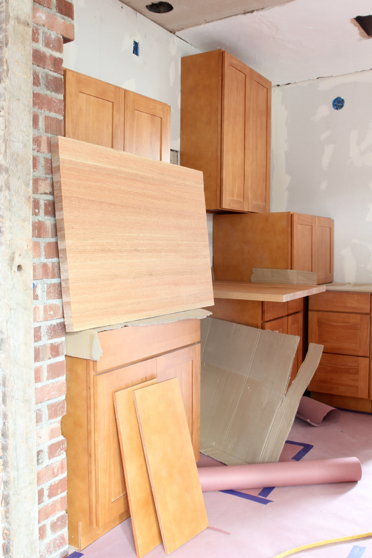 The Grit and Polish - Butcher Block Countertop staging