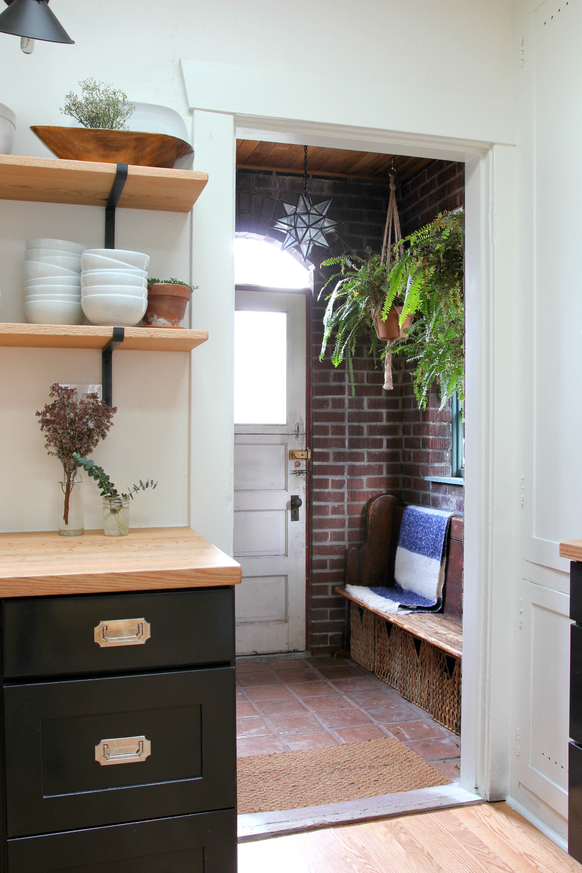 The Grit and Polish - Dexter Kitchen Remodel mudroom