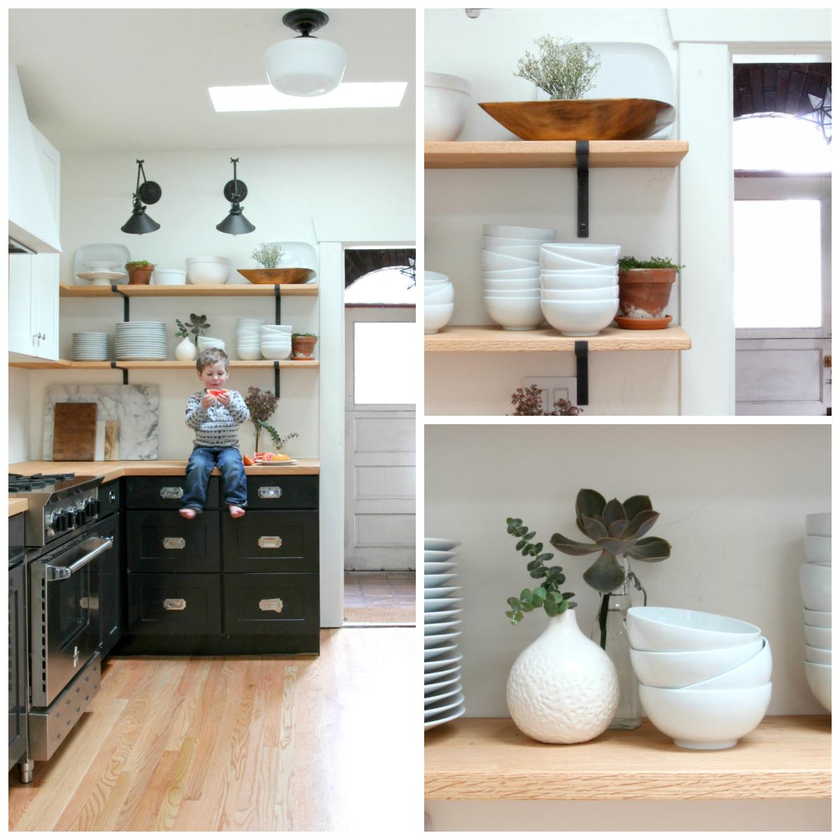 The Grit and Polish - Dexter Kitchen Renovation Shelf Details Collage