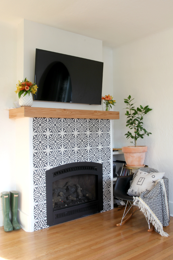 Dexter House - Living Room Fireplace