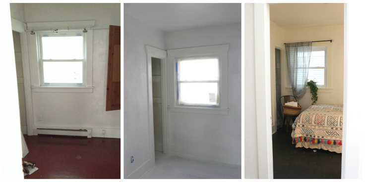 The Grit and Polish - Guest Bedroom Progress Collage