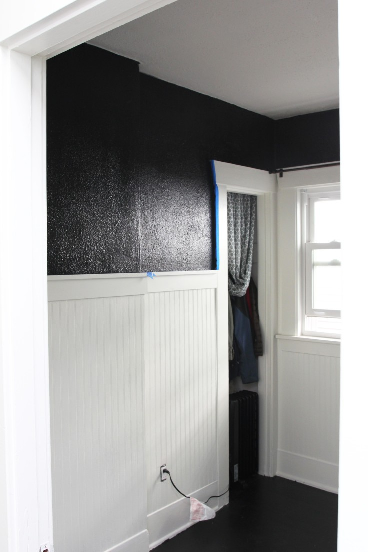 The Grit and Polish - Guest Room Black Walls