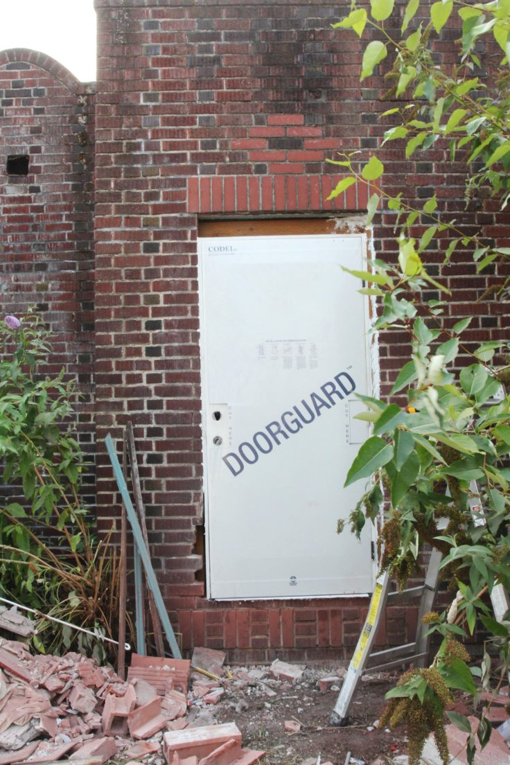 The Grit and Polish - Dexter Backyard Door Install 2