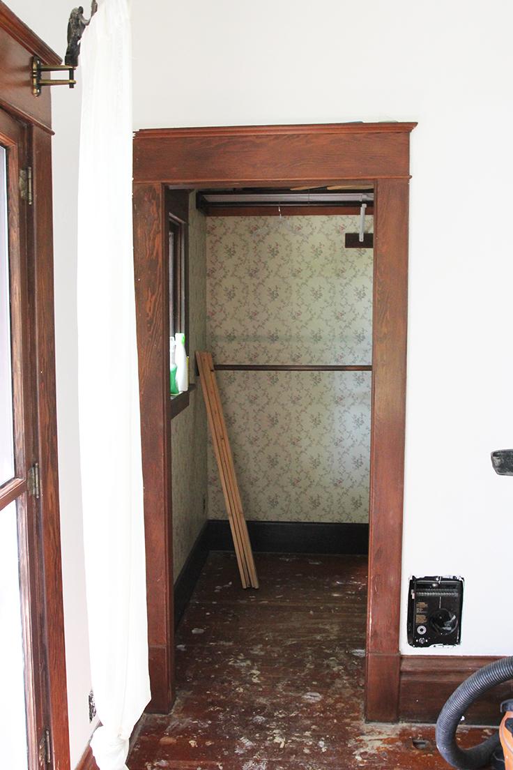 The Grit and Polish - Farmhouse Nursery Closet Post Paint