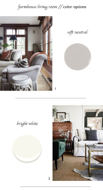 The Grit and Polish - Farmhouse Living Rm Paint Options