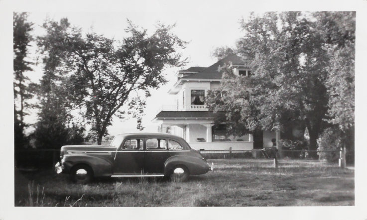 Farmhouse Old Picture with Car
