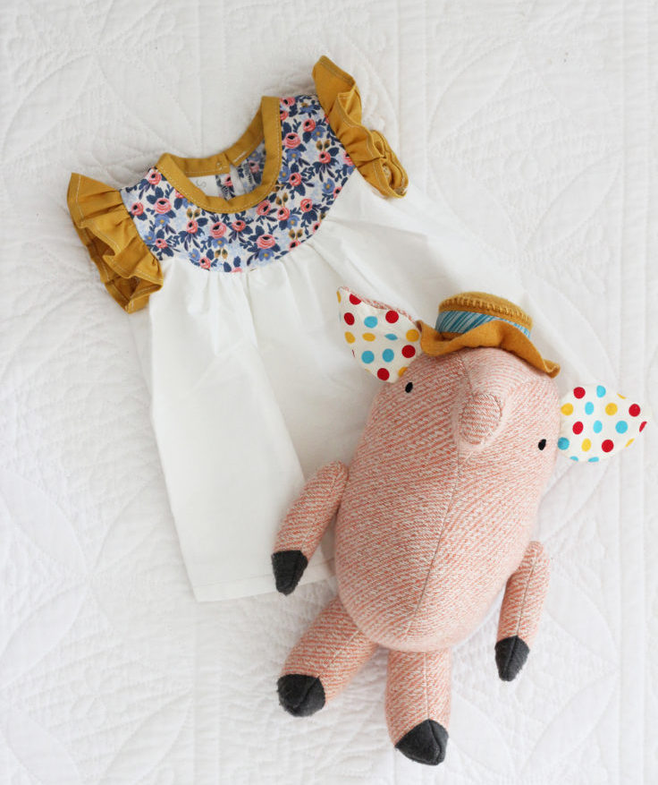 The Grit and Polish - Baby Girl Dress and Pig