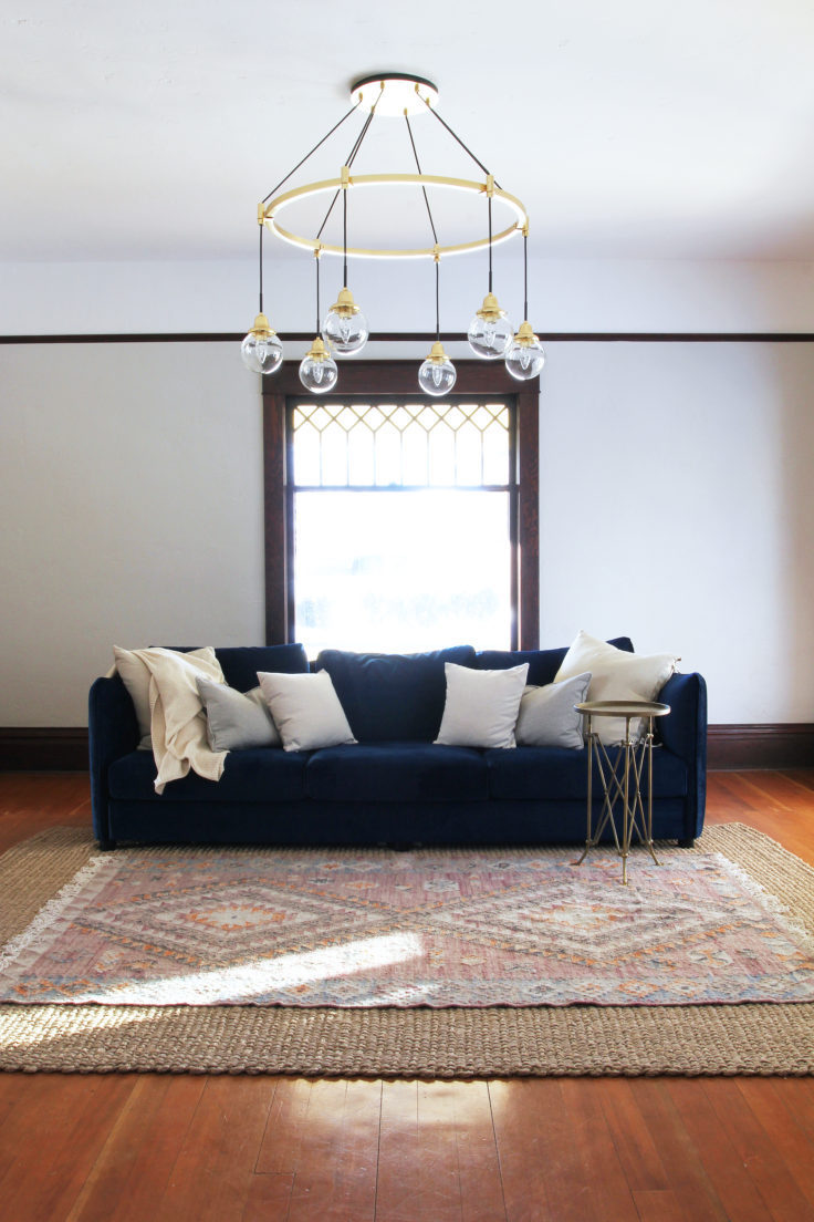 The Grit and Polish - Farmhouse Living Rm Chandelier 2