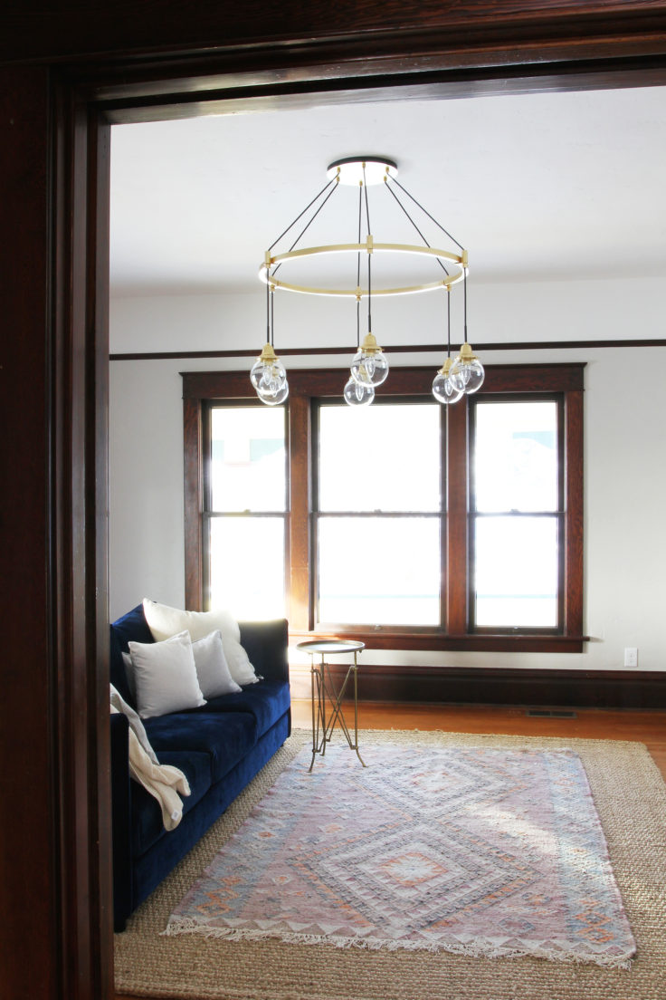 The Grit and Polish - Farmhouse Living Rm Chandelier 3