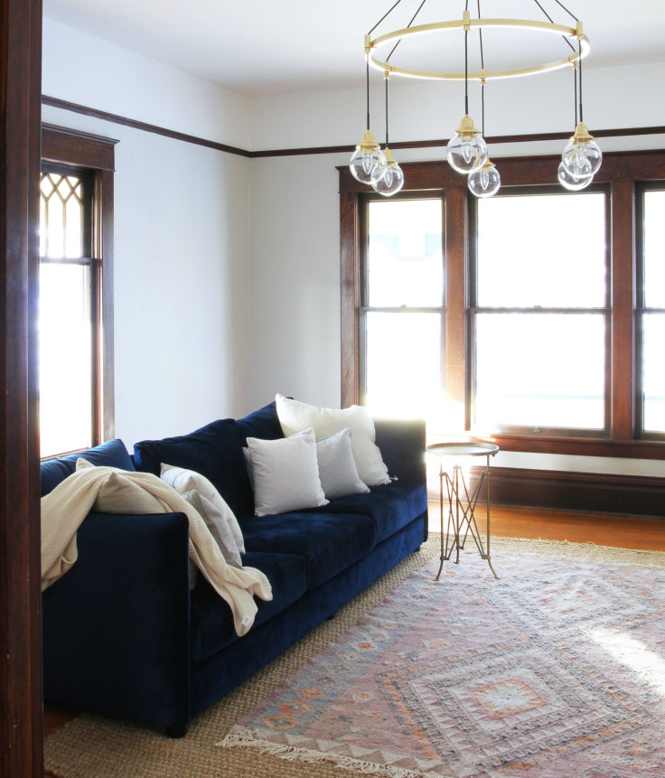 The Grit and Polish - Farmhouse Living Rm Chandelier cropped