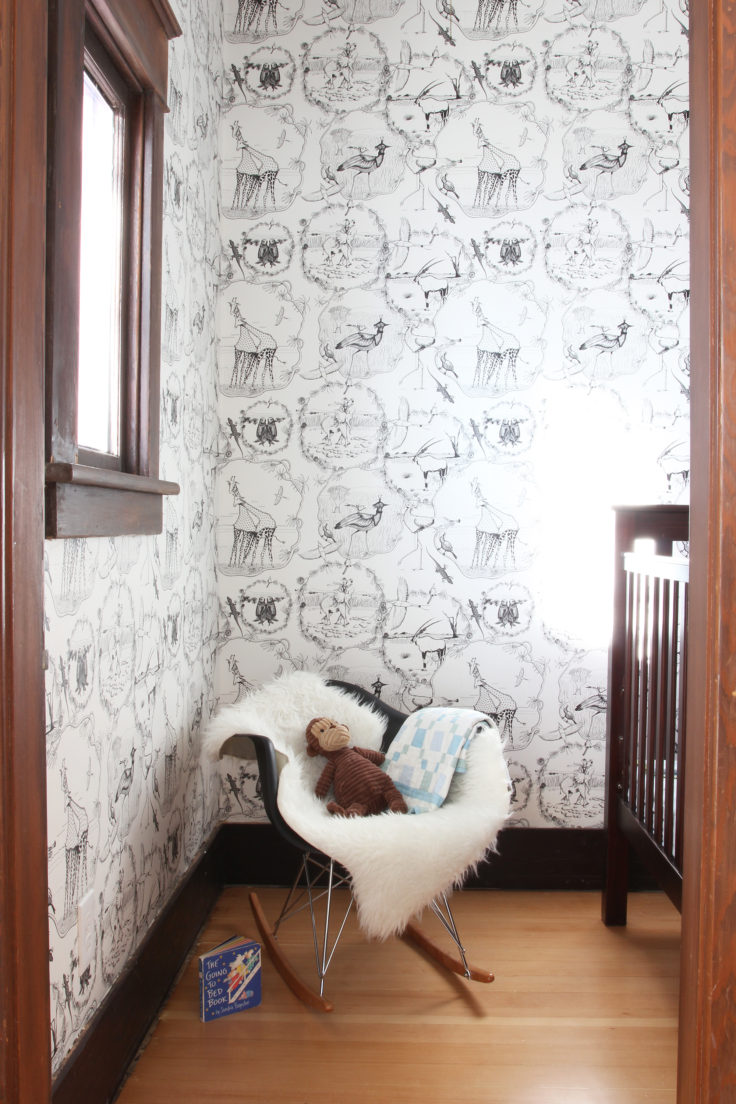 The Grit and Polish - Nursery Wallpaper Nook 2