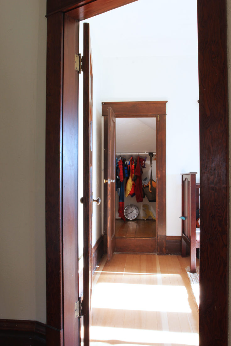 The Grit and Polish - Farmhouse Shared Bedroom Closet 1
