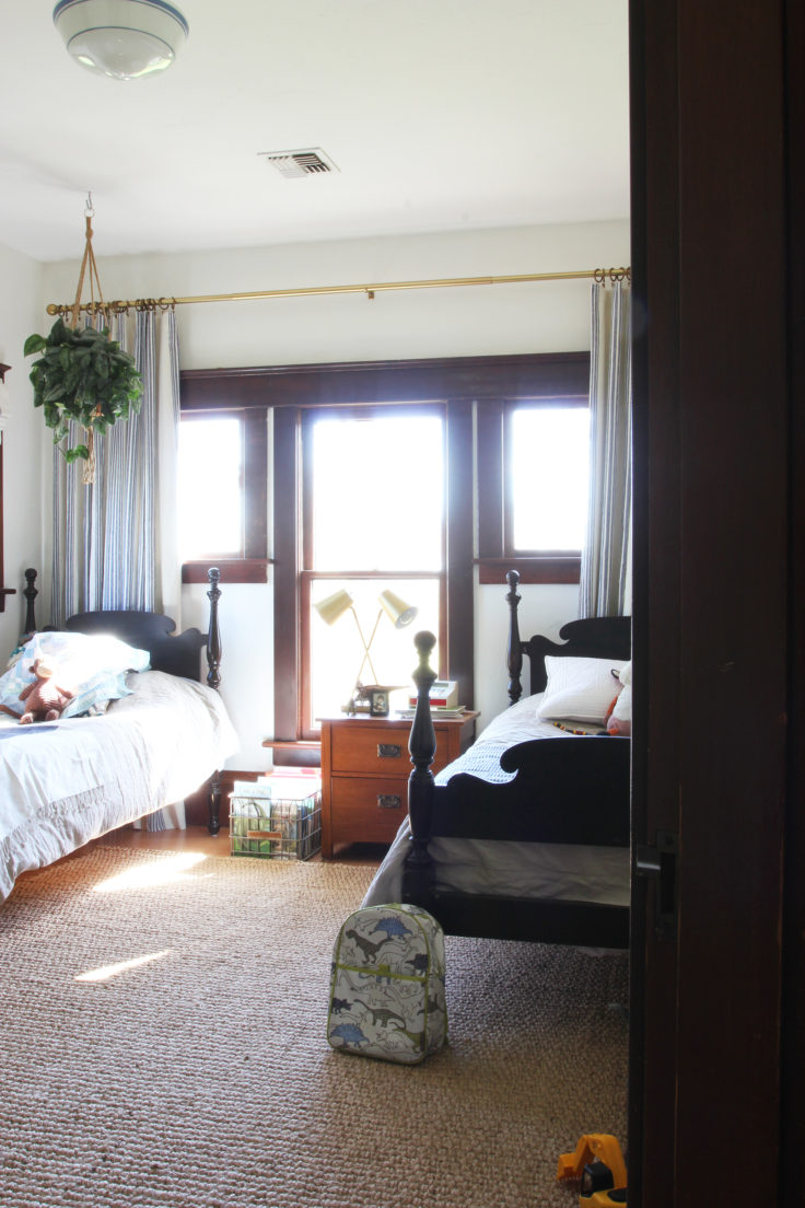 The Grit and Polish - Farmhouse Shared Bedroom both beds