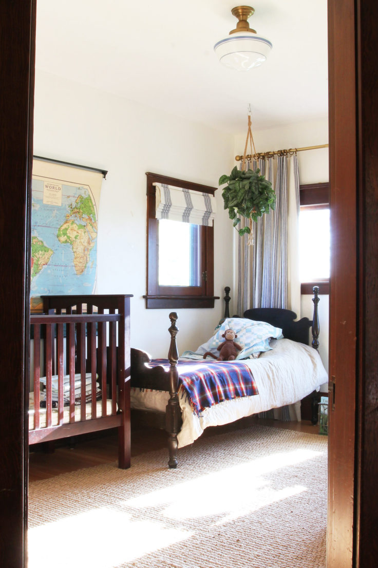 The Grit and Polish - Farmhouse Shared Bedroom from Door