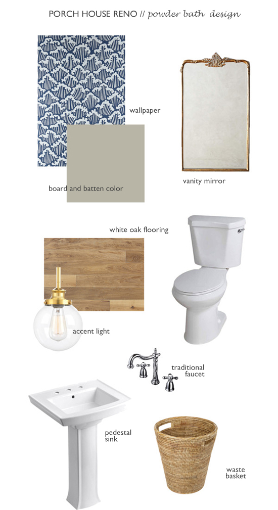The Grit and Polish - Porch House Powder Bath Design text