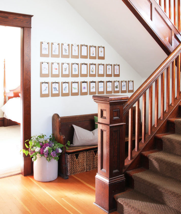 The Grit and Polish - Alphabet Wall Stairs and Entryway