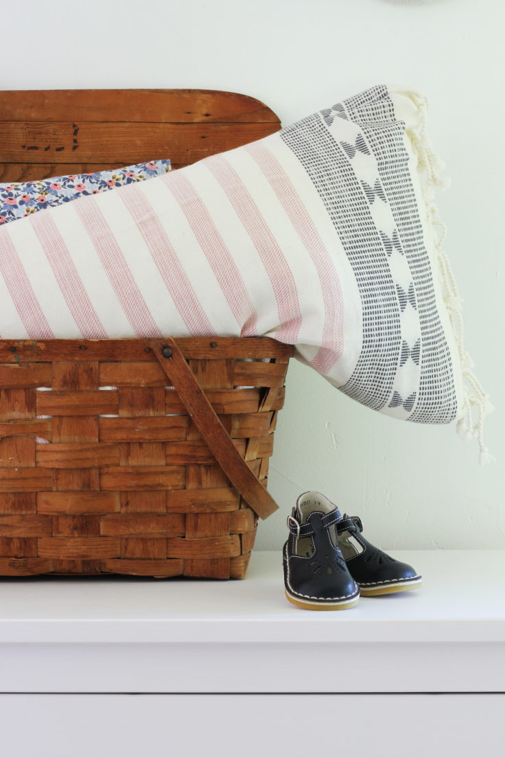 The Grit and Polish - Nursery Design Ideas Vintage Basket and French Shoes