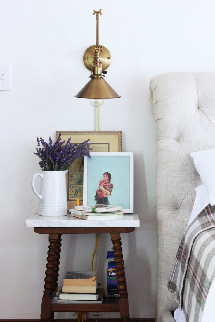 The Grit and Polish - Master Bedroom Home Birth Prep Nightstand