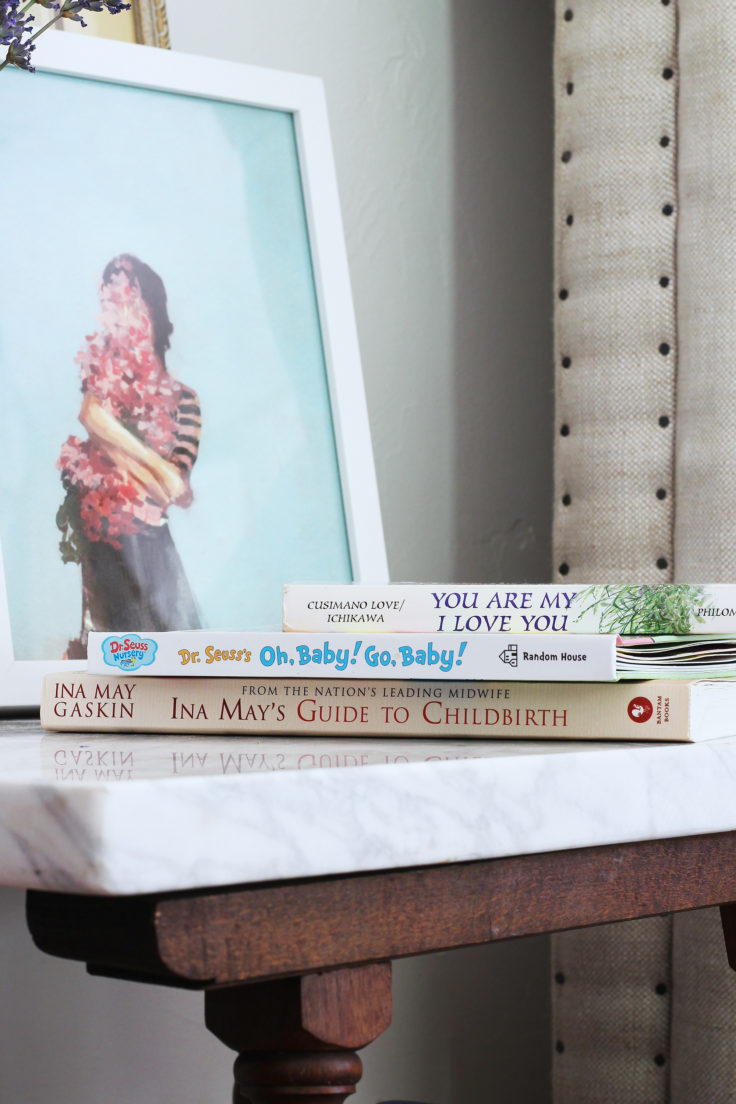 The Grit and Polish - Master Bedroom Home Birth Prep books