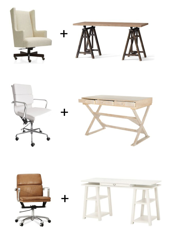 The Grit and Polish - Office Chair and Trestle Desk Pairings