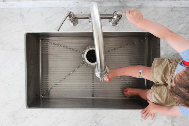 The Grit and Polish - Porch House Elkay Sink Brooks Feet 2