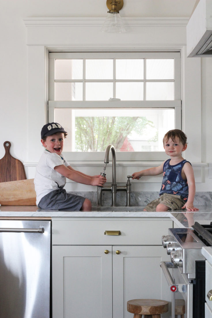 The Grit and Polish - Porch Kitchen Boys in Elkay Sink 4.2