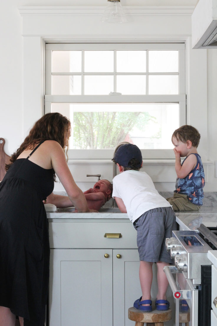 The Grit and Polish - Porch Kitchen Sink Bath all kids 1