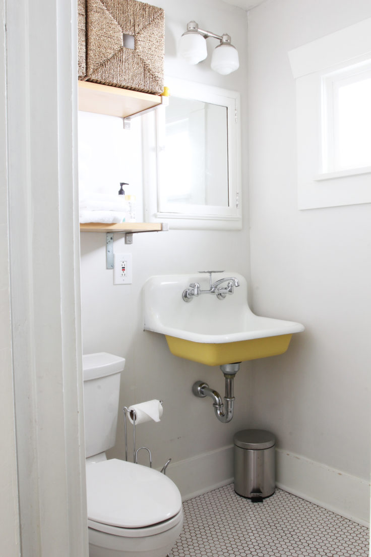 The Grit and Polish - Bryant Airbnb After Bathroom sink