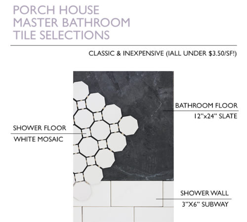 Porch Master Bathroom Tiles