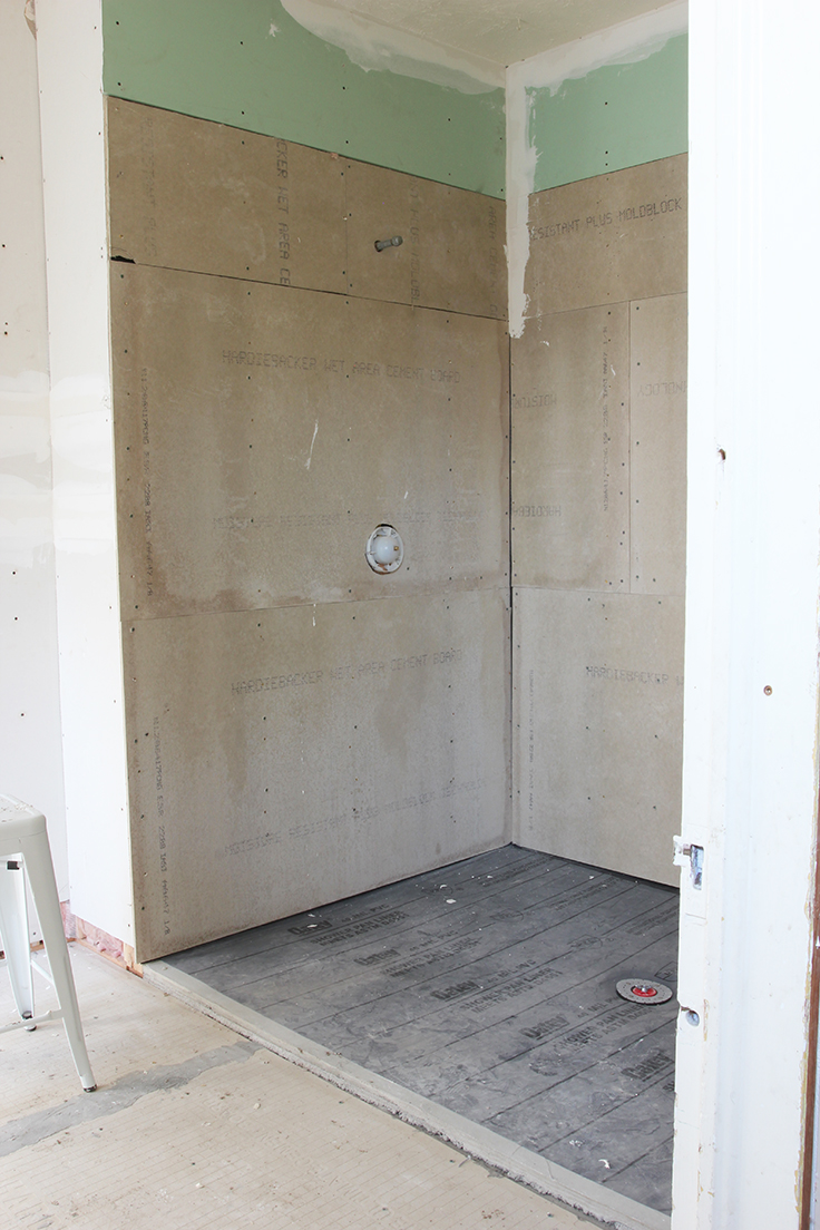 The Grit and Polish - Porch Master Bath Progress Drywall 1