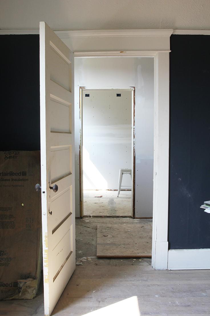 The Grit and Polish - Porch Master Bath Progress Framing 1