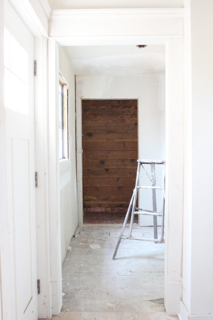 The Grit and Polish - Porch Mudroom Shiplap