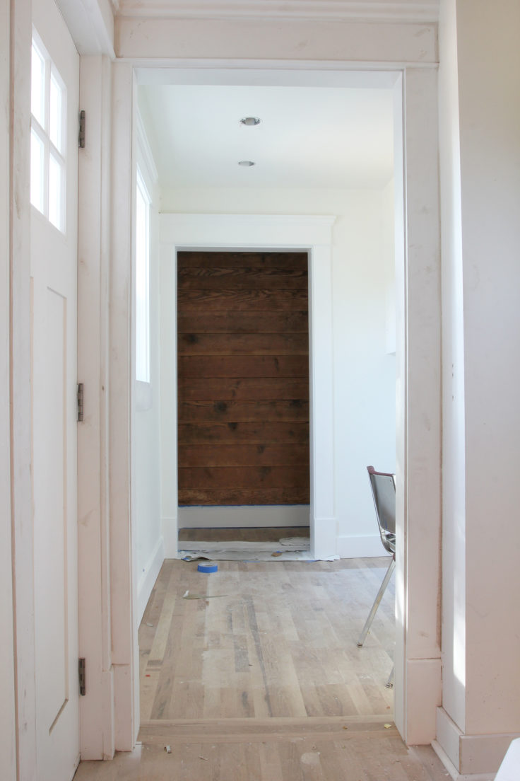 The Grit and Polish - Mudroom trim and paint 2