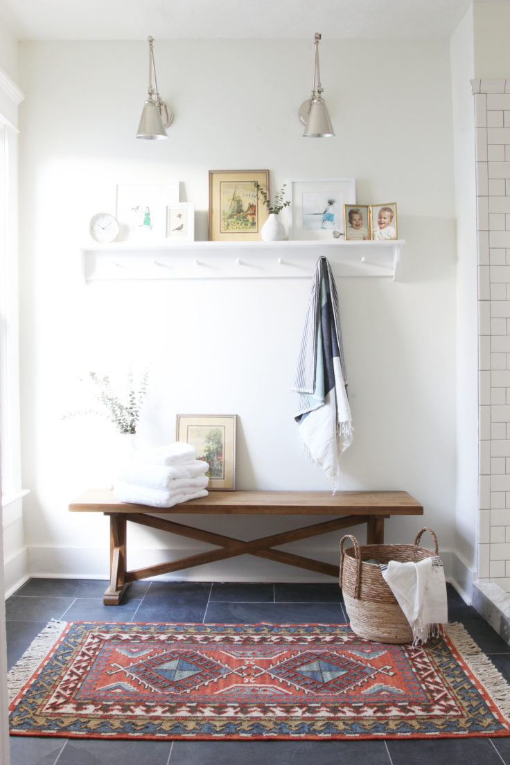 The Grit and Polish - Porch Master Bathroom Bench Large