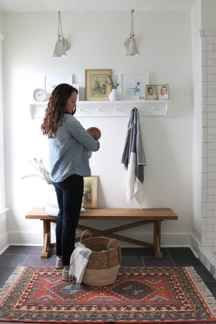 The Grit and Polish - Porch Master Bathroom Nursing Daphne