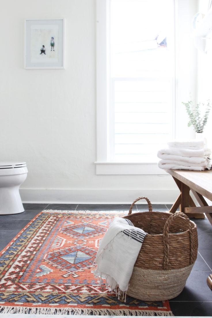 The Grit and Polish - Porch Master Bathroom Rug