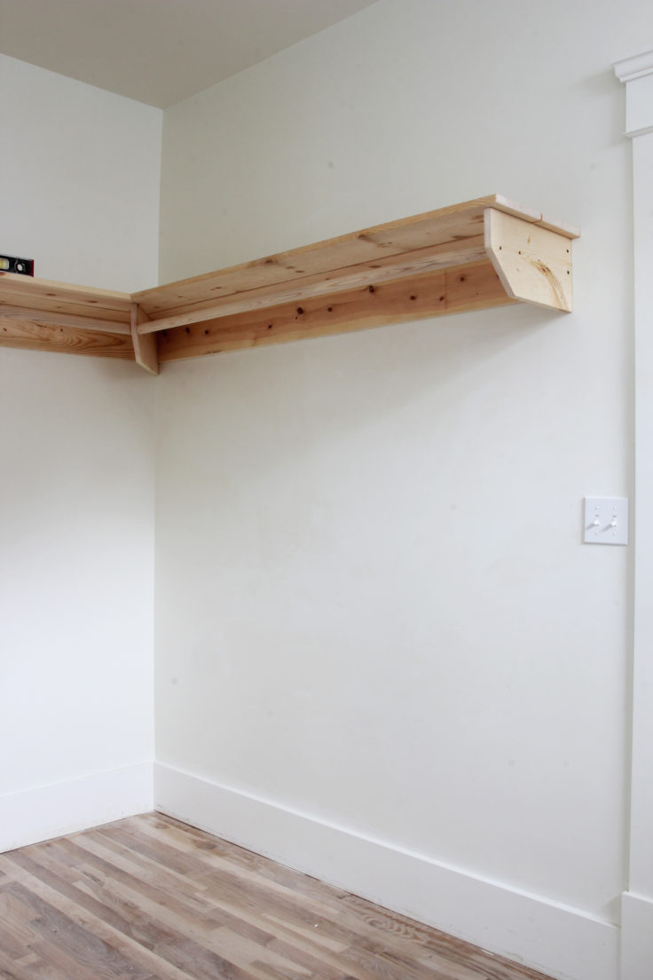 The Grit and Polish - Porch Master Suite Closet Hanging Wall