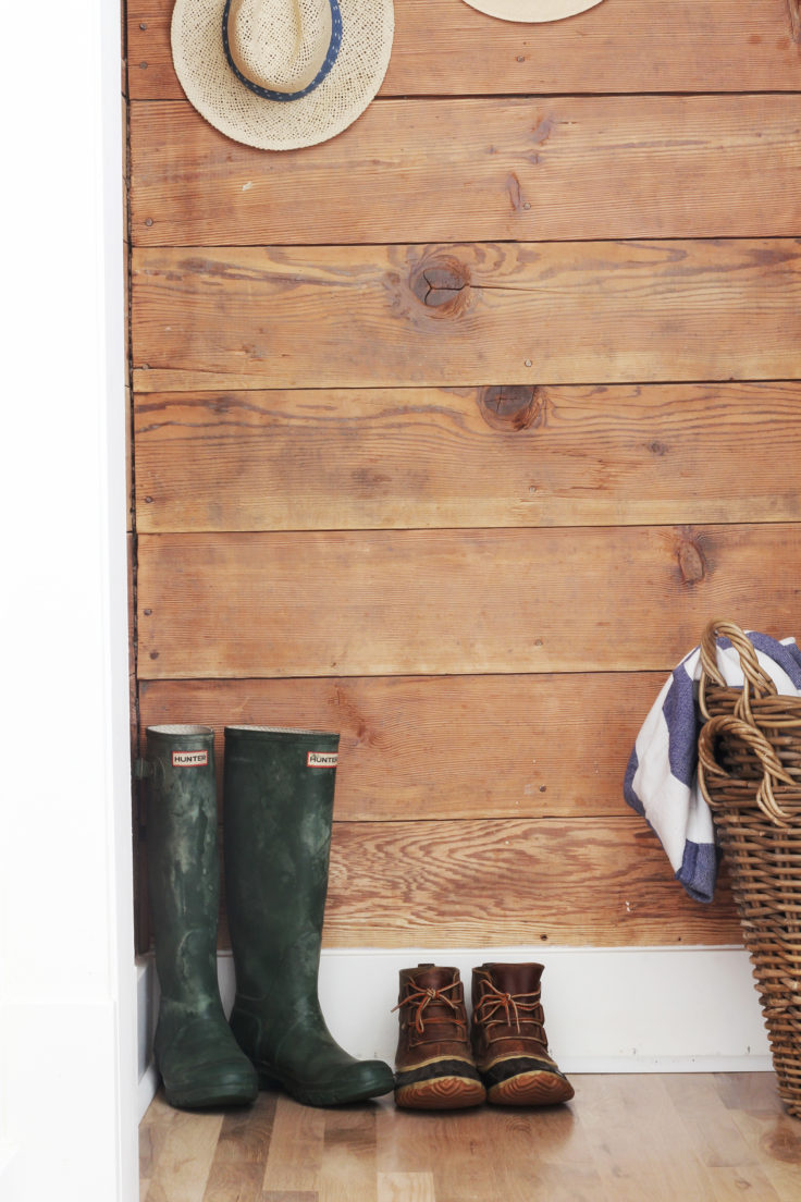 The Grit and Polish - Porch Mudroom Reveal shoes