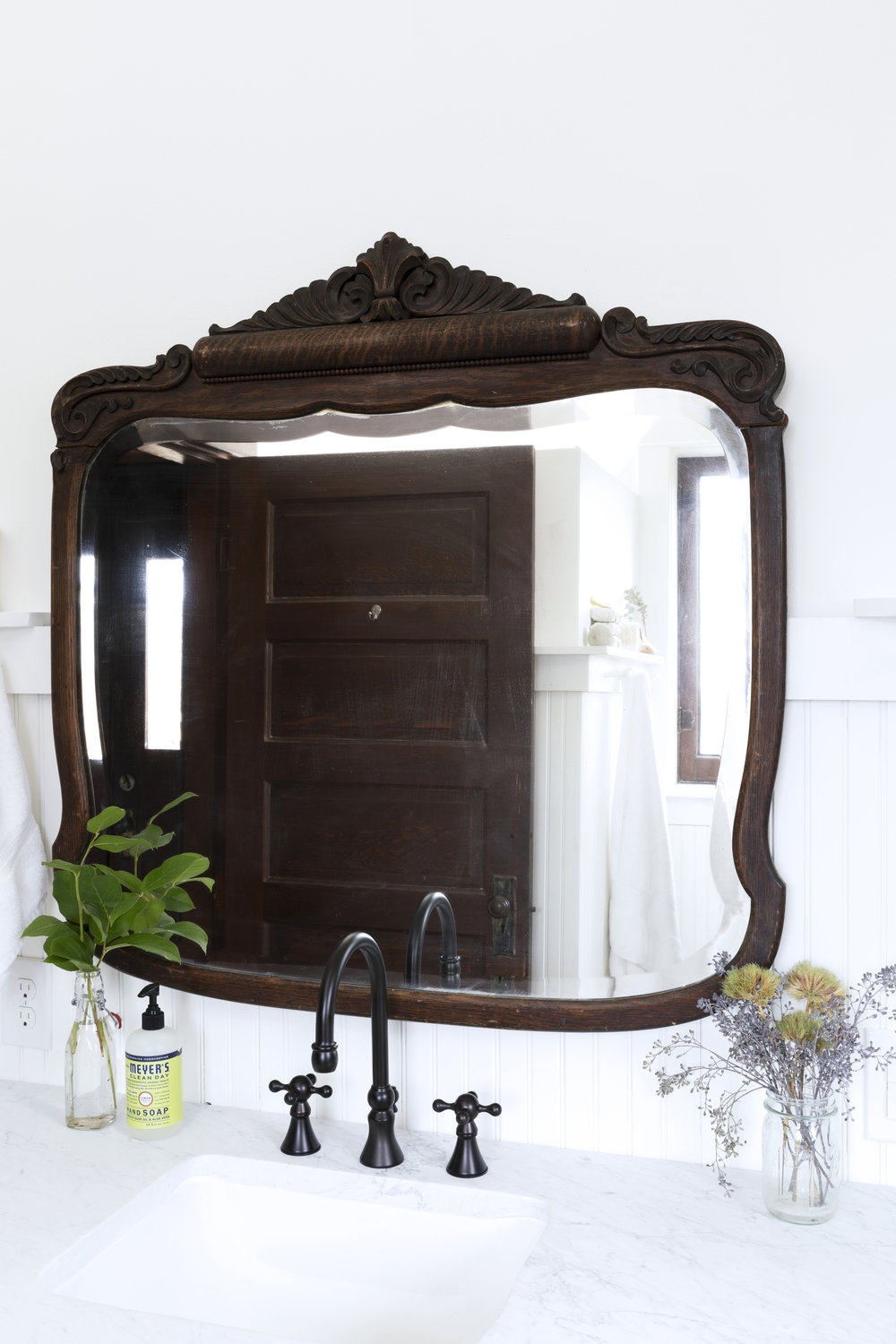The Grit and Polish - Farmhouse Bathroom Budget Vintage Mirror.jpg