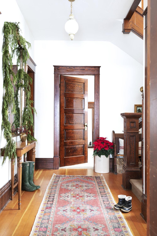 The Grit and Polish - Farmhouse Entry Christmas + boots.jpg