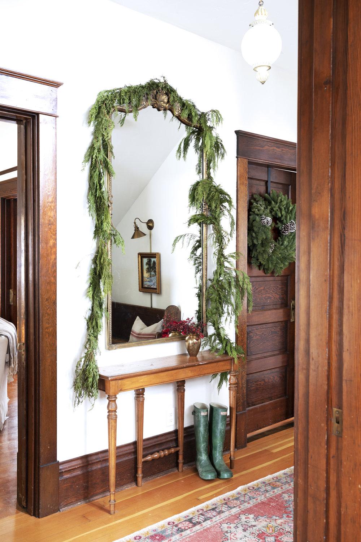 The Grit and Polish - Farmhouse Entry Christmas Mirror.jpg