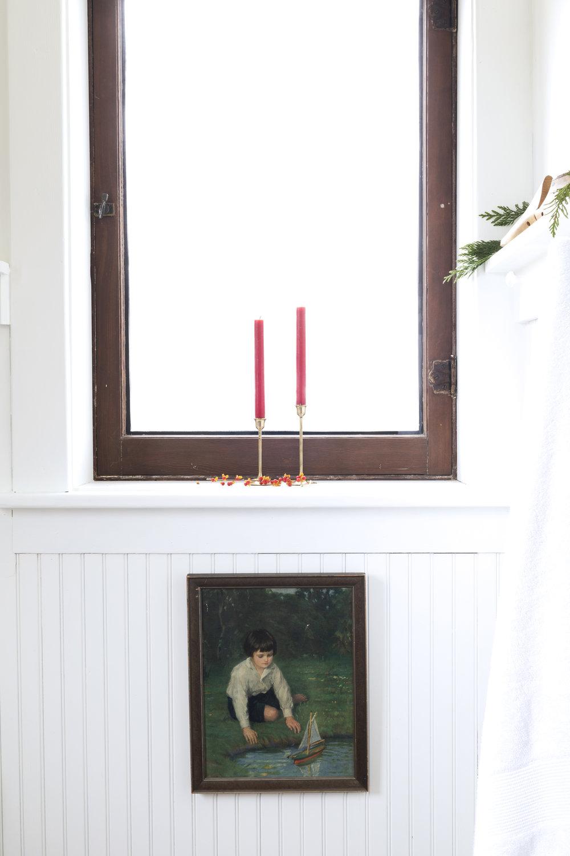 The Grit and Polish - Farmhouse Bathroom Christmas Art + Candles.jpg