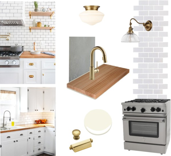 6 day kitchen reno - Option 3 budget kitchen design moodboard
