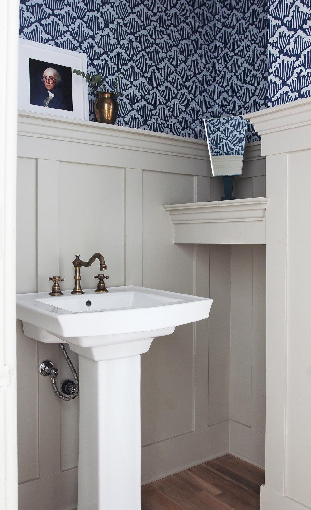 The Grit and Polish - Porch Powder Bathroom sink low CLEAN