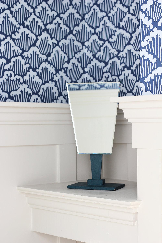 The Grit and Polish - Porch Powder Bathroom mirror