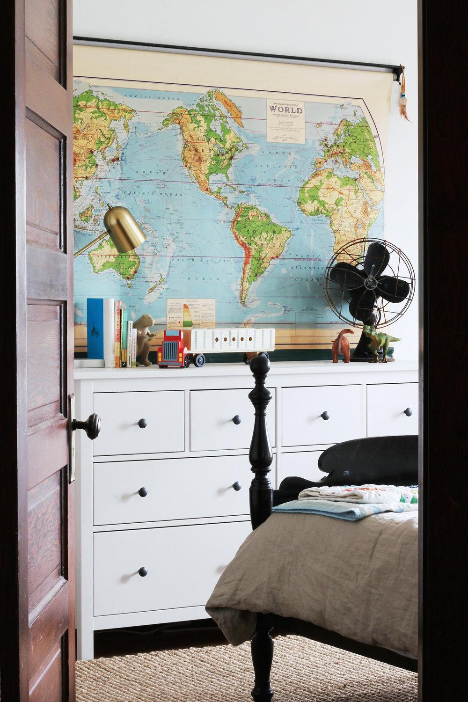 The Grit and Polish - Farmhouse Boys Bedroom Vintage Map 2.jpg