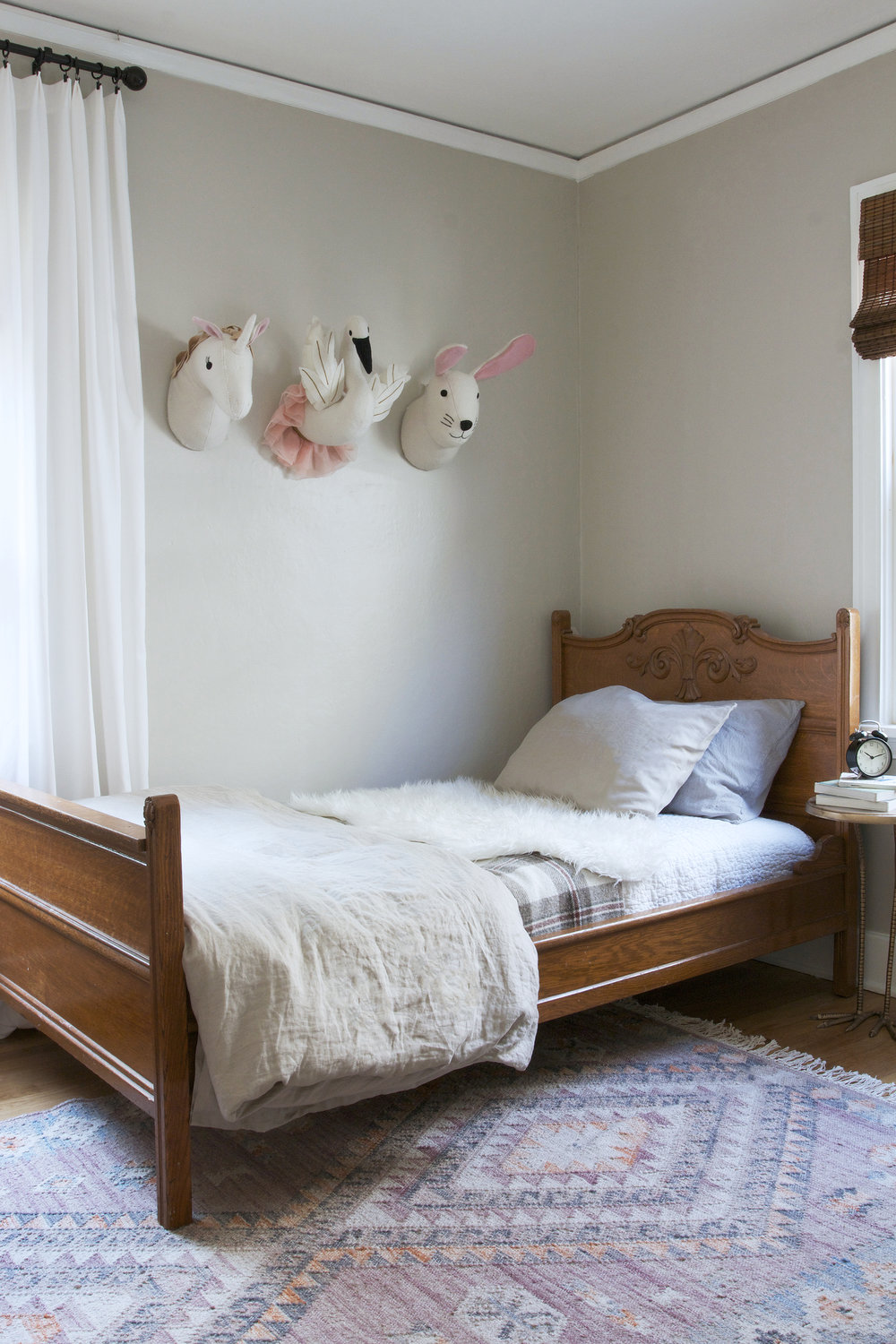 The Grit and Polish - Ravenna 2.0 Kids Bedroom Bed and Animal Heads.jpg